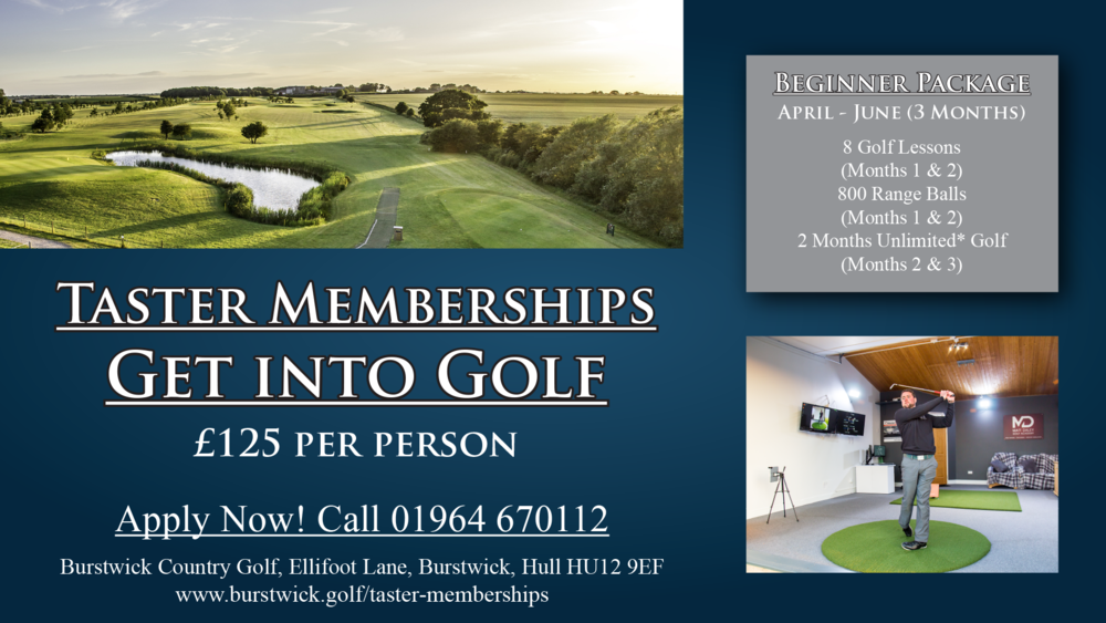 Get into golf with our new Taster Memberships
