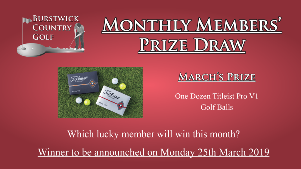Free Monthly Members Draw