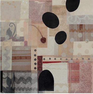 sampler no.1-mixed print monoprint with chine collé