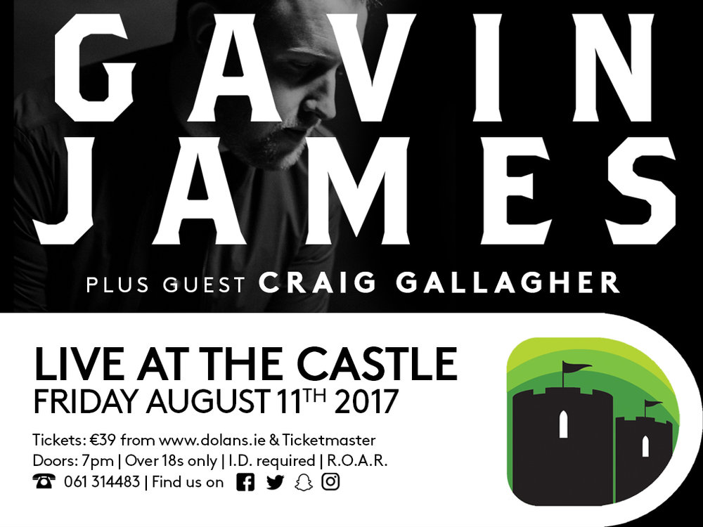 Gavin James dolans limerick live at the castle