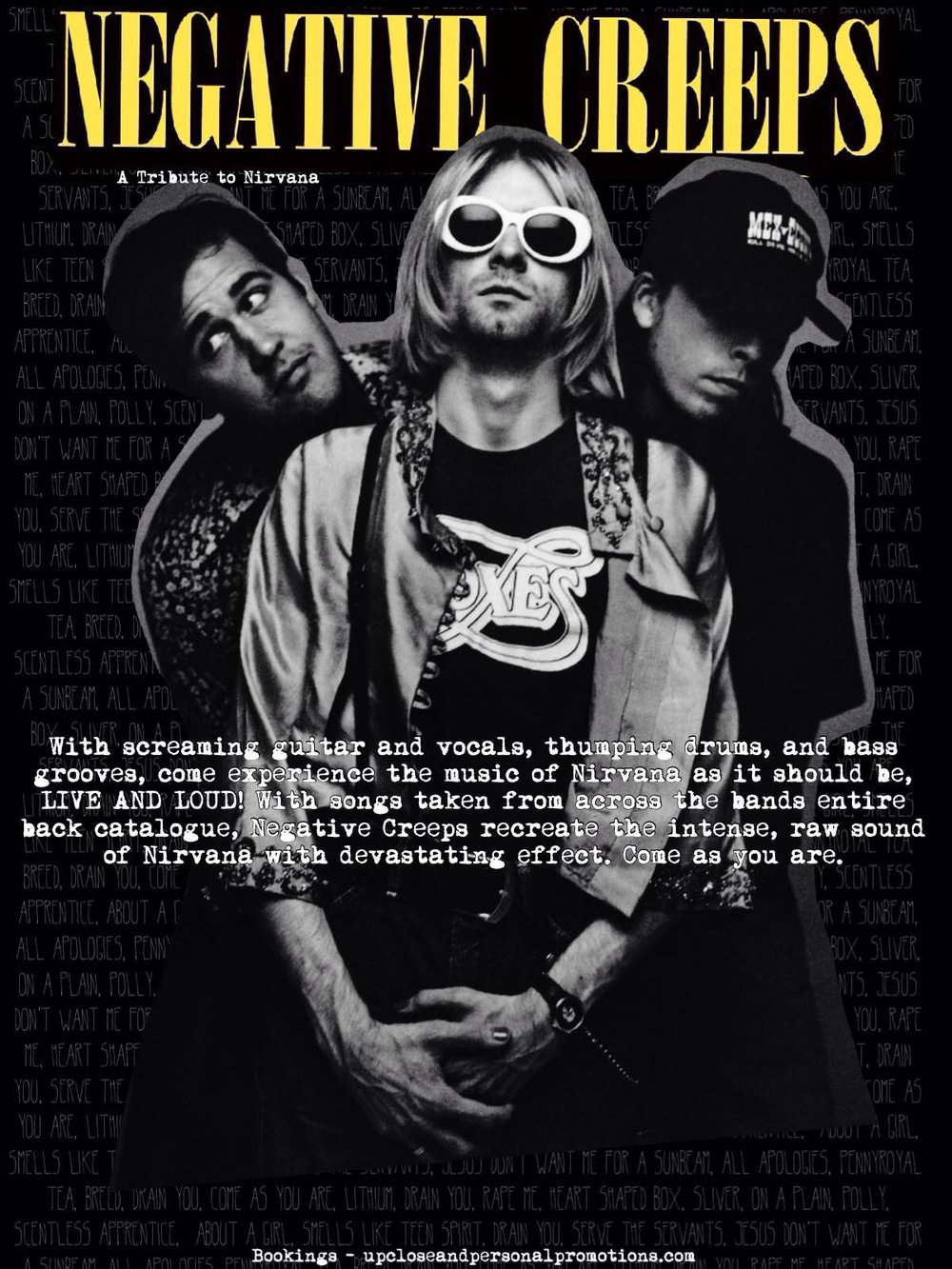 Negitive Creeps - A Tribute to Kurt Cobain & Nirvana