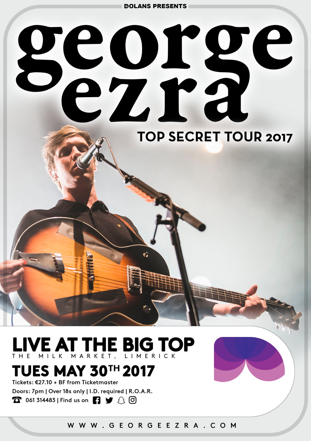 Geroge Ezra Dolans Limerick Live At The big Top