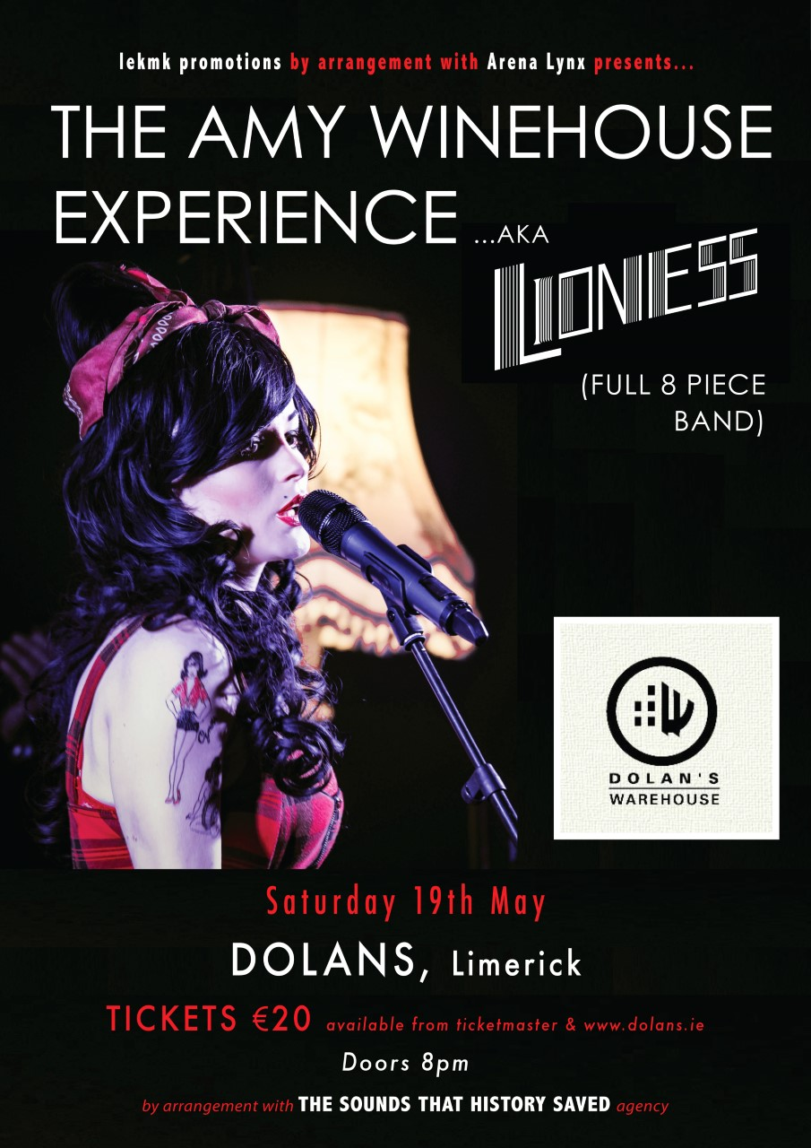Lioness Amy Winehouse Dolans May 19th
