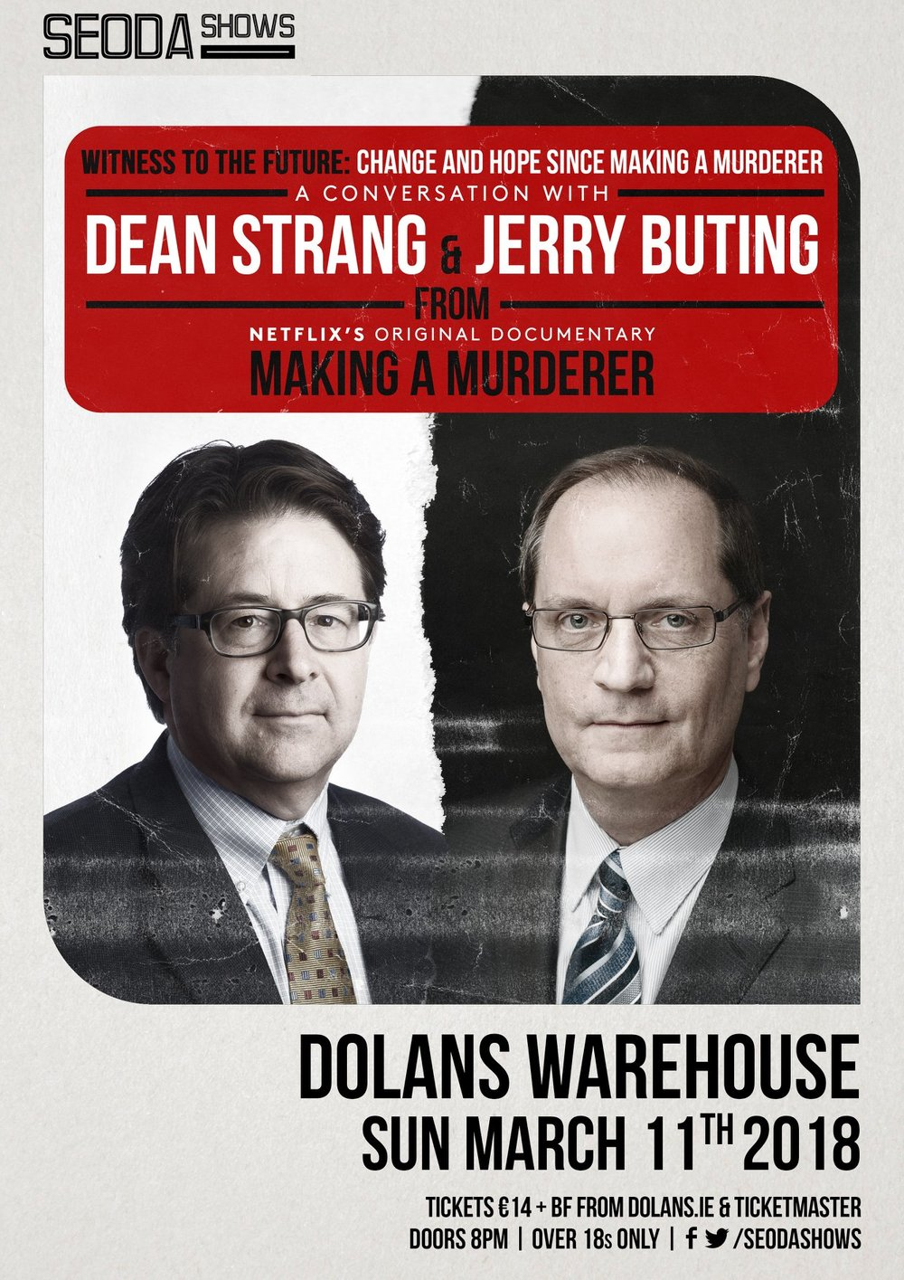 Dean Strang Jerry Buting Dolans Limerick March 11th