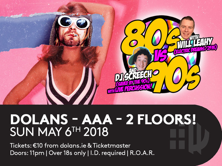 The event sees legendary Limerick DJs Will Leahy and DJ Screech take to two floors in Dolans for an access all areas gig celebrating some of the most popular music anthems of all time.