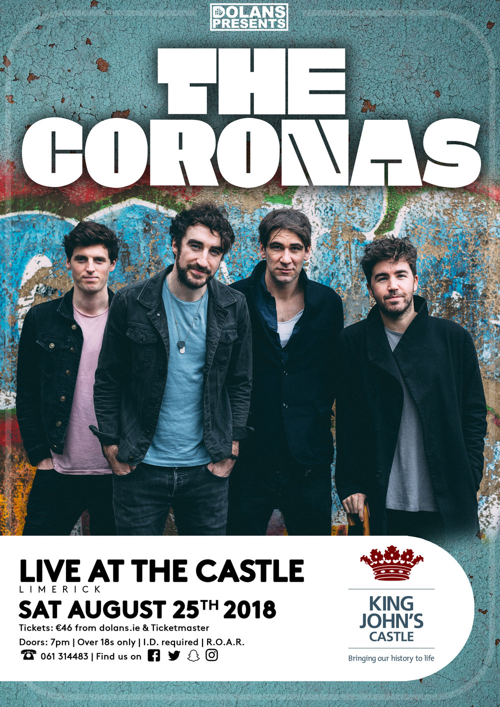 Tickets on sale Friday June 8th at 9am, €43 plus booking fee Over 18s only- SOLD OUT