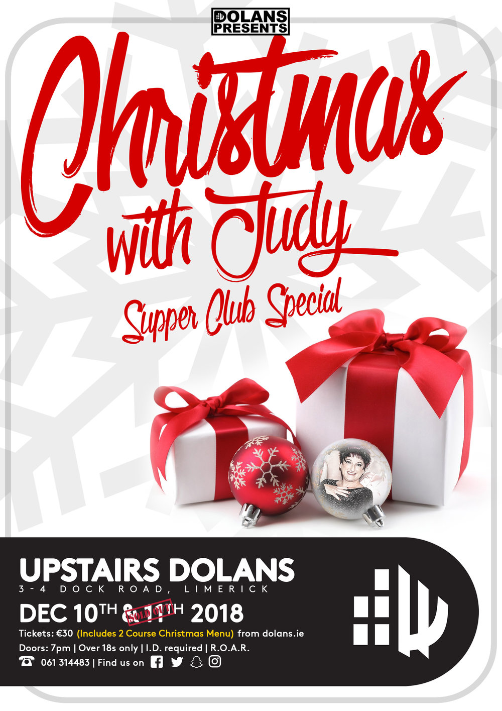 The Supper Club with Judy O'Connor in Dolans Limerick on December 10th