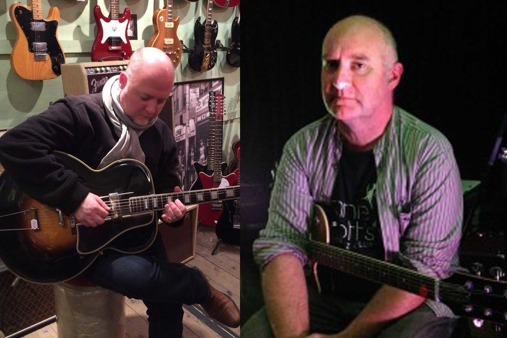 "Brian O'Connor and Dave Keary performing a ""Live at the Window"" session December 29th Dolans Pub Limerick"