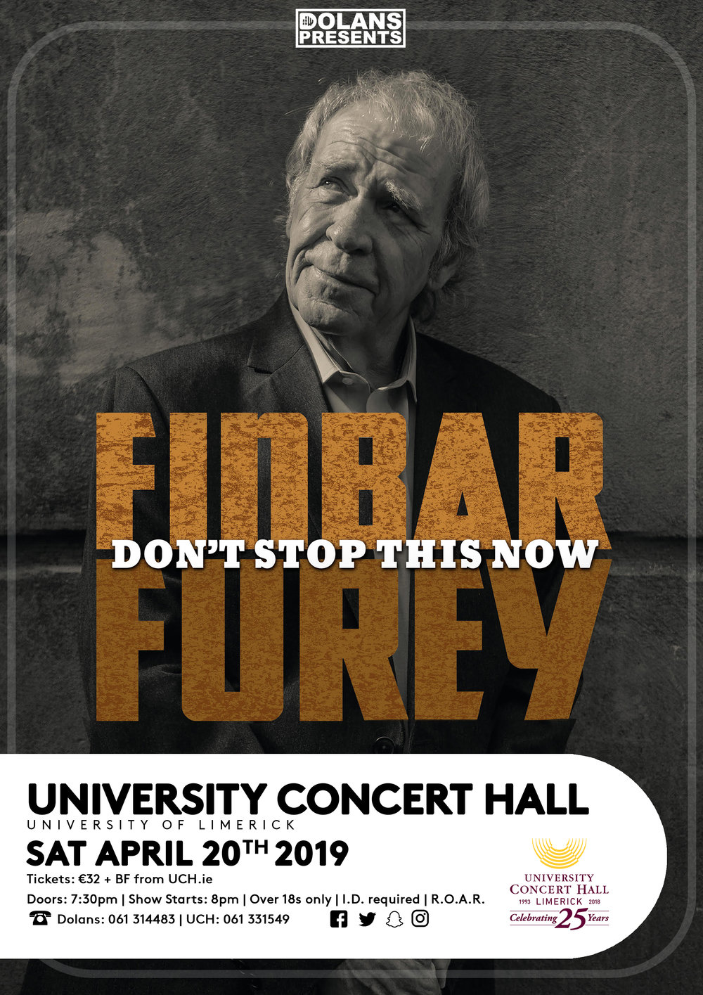 5a3c99d2bc93 Tickets €32 from University Concert Hall - (strictly over 18 s)