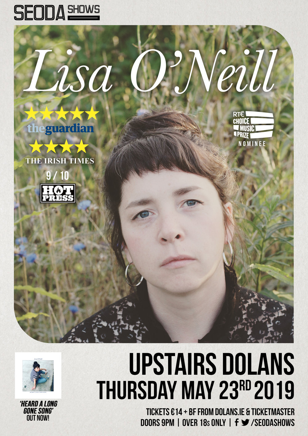 Lisa O'Neill Seoda Shows Limerick May 23rd Dolans