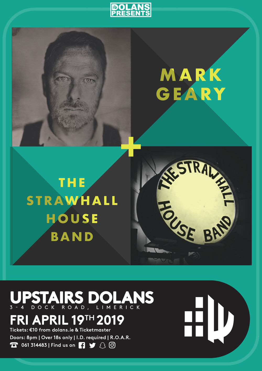 Mark Geary and The Strawhall House Band Dolans Limerick April 19th Upstairs at Dolans
