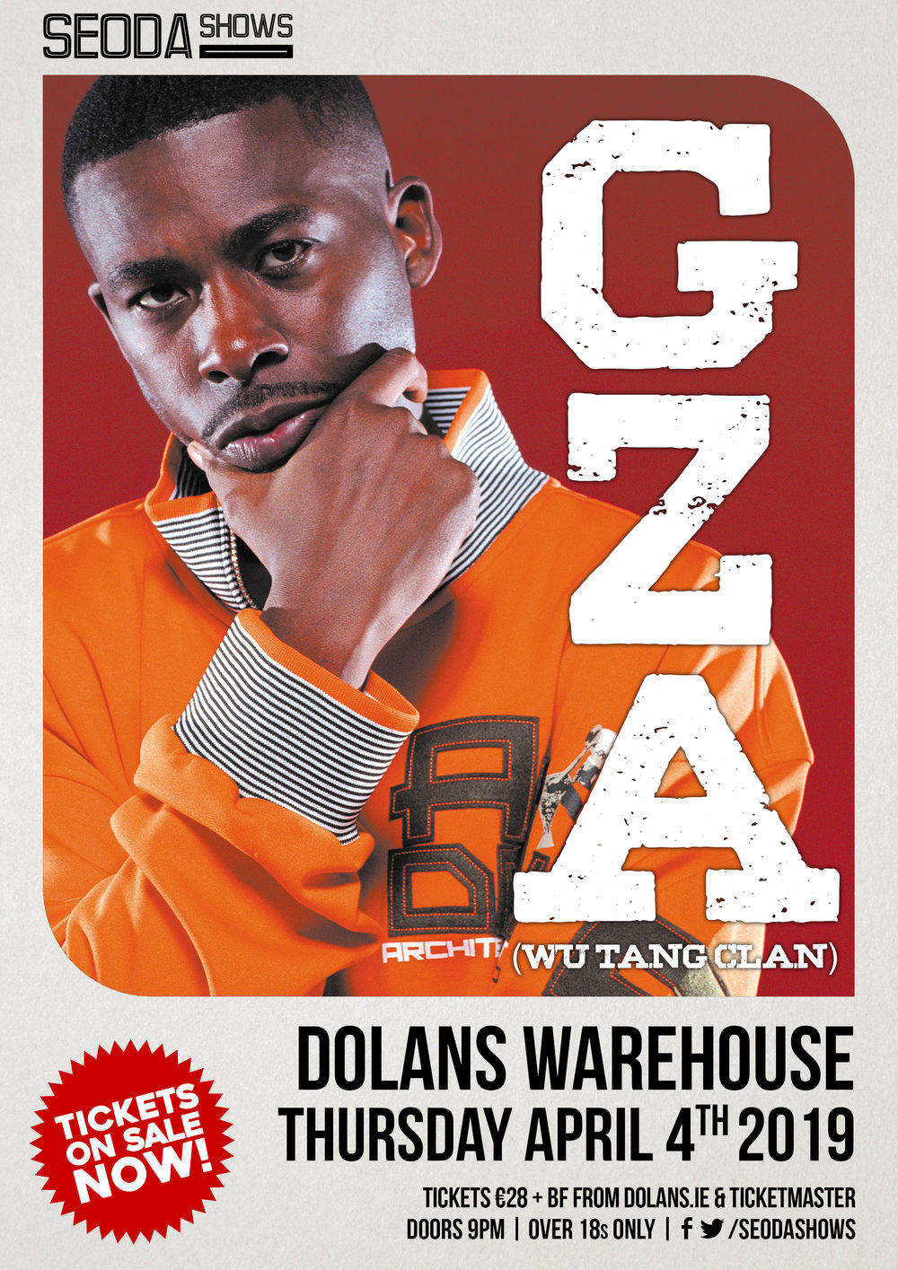 GZA Seoda Show Dolans Limerick April 4th Wu Tang Clan
