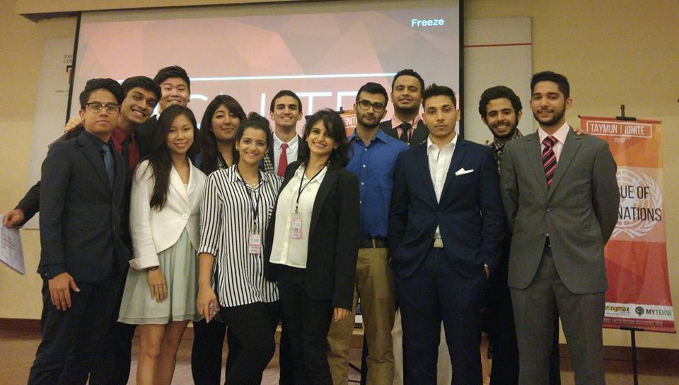 Nottingham University Model United Association's Delegation to TayMUN 2015. The delegation won 1 best delegate, 2 outstanding delegates and 3 honourable mention. We also provided the Head Chair for the United Nations Security Council. This was the first conference NUMUNA had attended since becoming a subsidiary of United Nations Youth Nottingham on the 26th October 2015. (TayMUN 27th November to 29th November 2015)