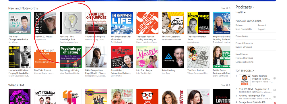 "#3 on iTunes ""NEW AND NOTEWORTHY"", ""Health Section""!"