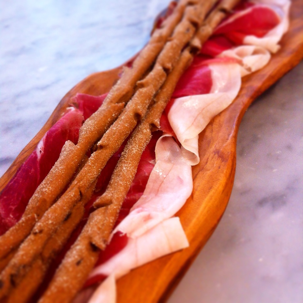 The richness of the prosciutto is really set of by the crunchiness and slight bitterness of the grissini, bringing added depth to a classic Italian dish.