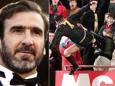Much like Pecorino, Eric Cantona can trace his roots to Sardinia. However unlike Pecorino, Eric Cantona karate kicks people in the face.