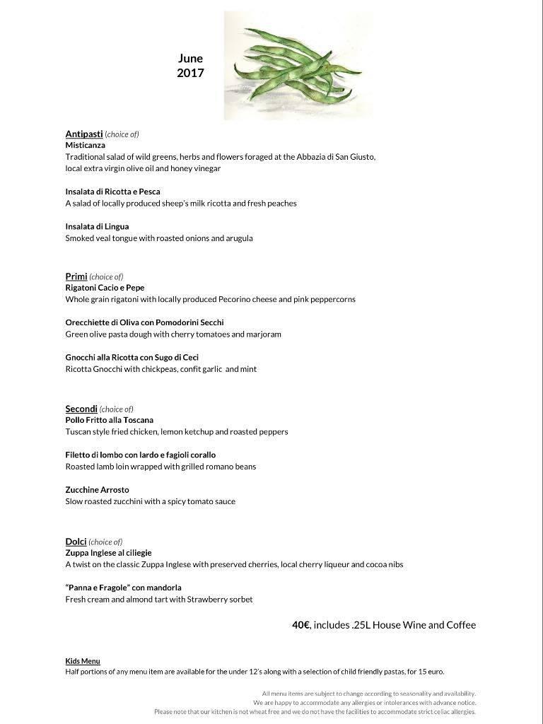 June menu
