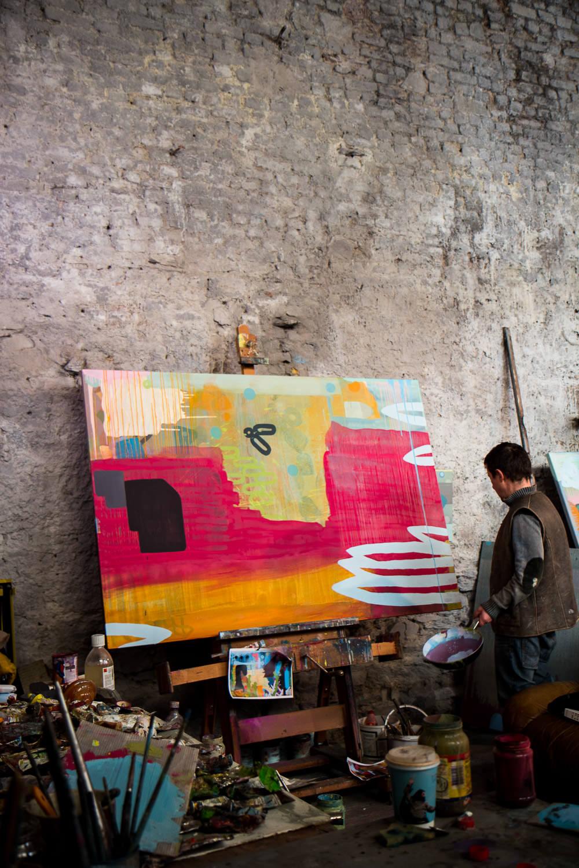 Finnin Artist Studio Abstract Painter