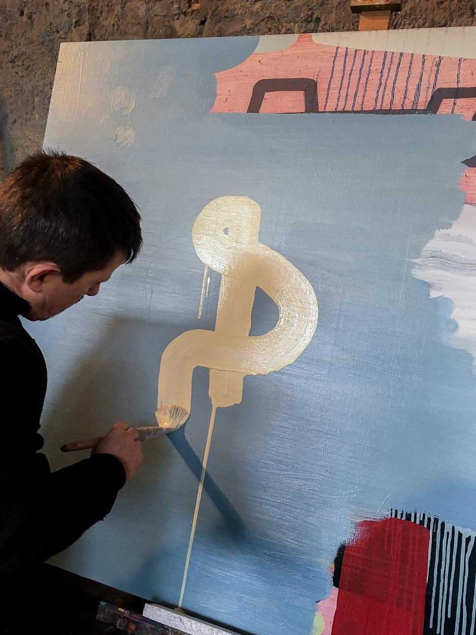 Artist Studio Martin Finnin | Painting Abstract Shape