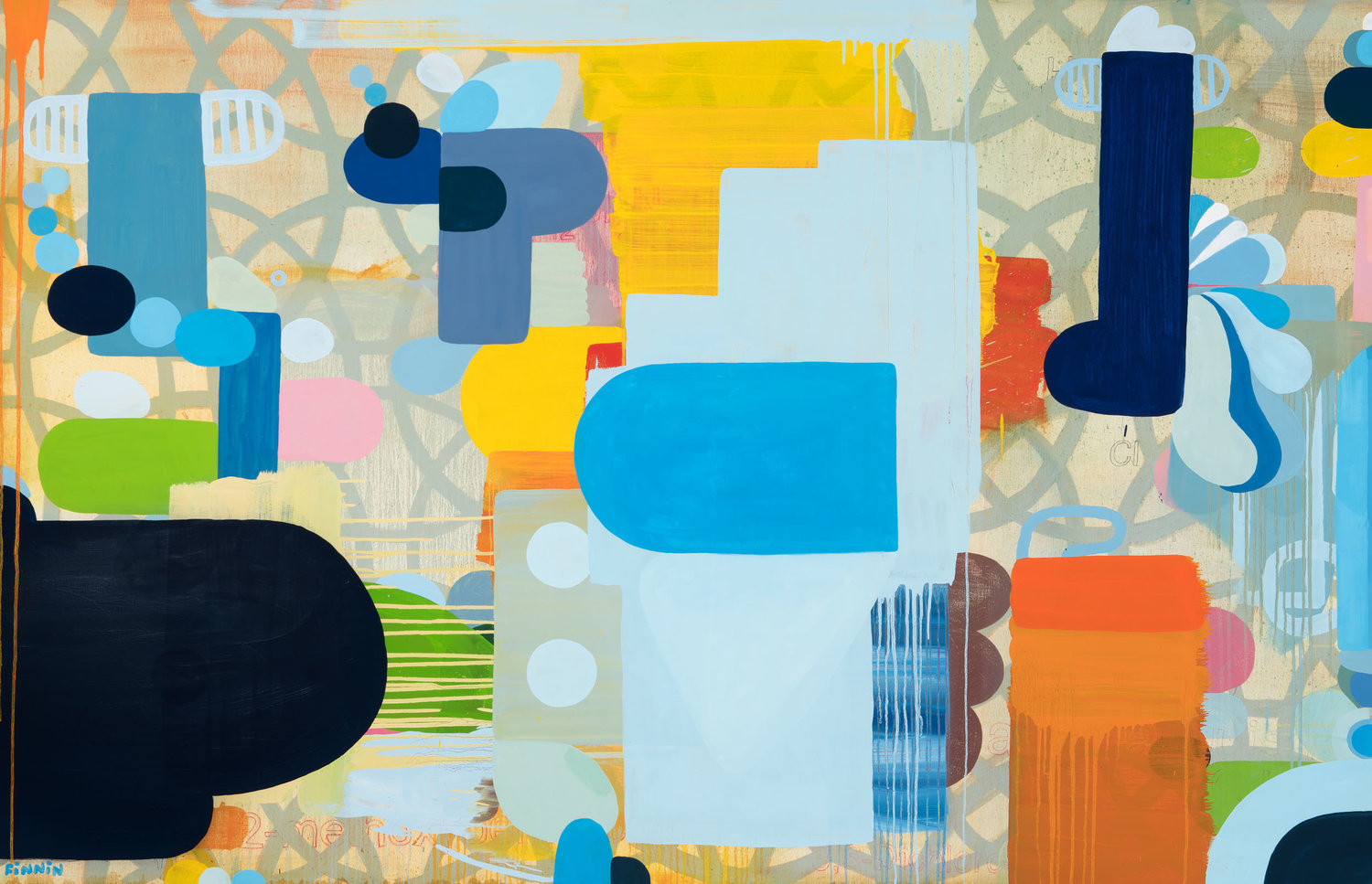 A Slow Blaze Of Blossoming Numbers I Oil On Canvas I 145 Cm X 225 Cm