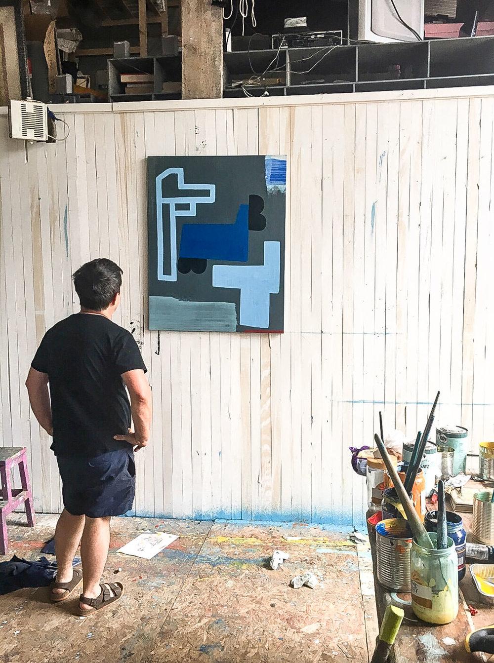 artiststudio oilpainting