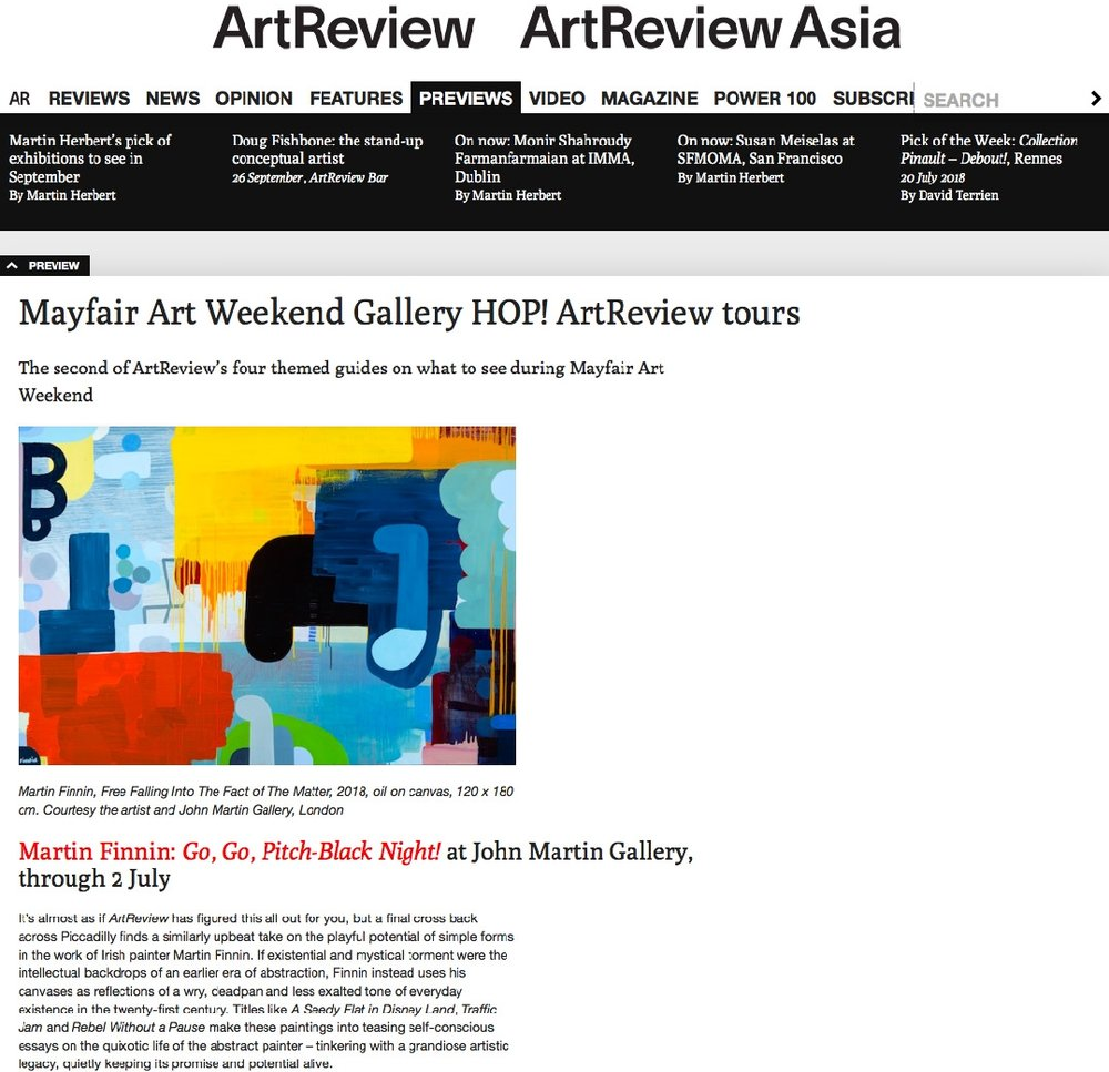 Art Review Magazine Martin Finnin Abstract Art