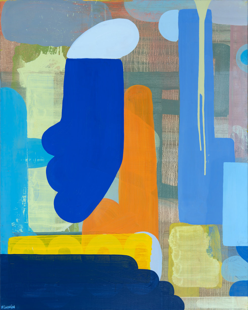 My Tribe Ran Off I oil on canvas painting I Martin Finnin Abstract Art London