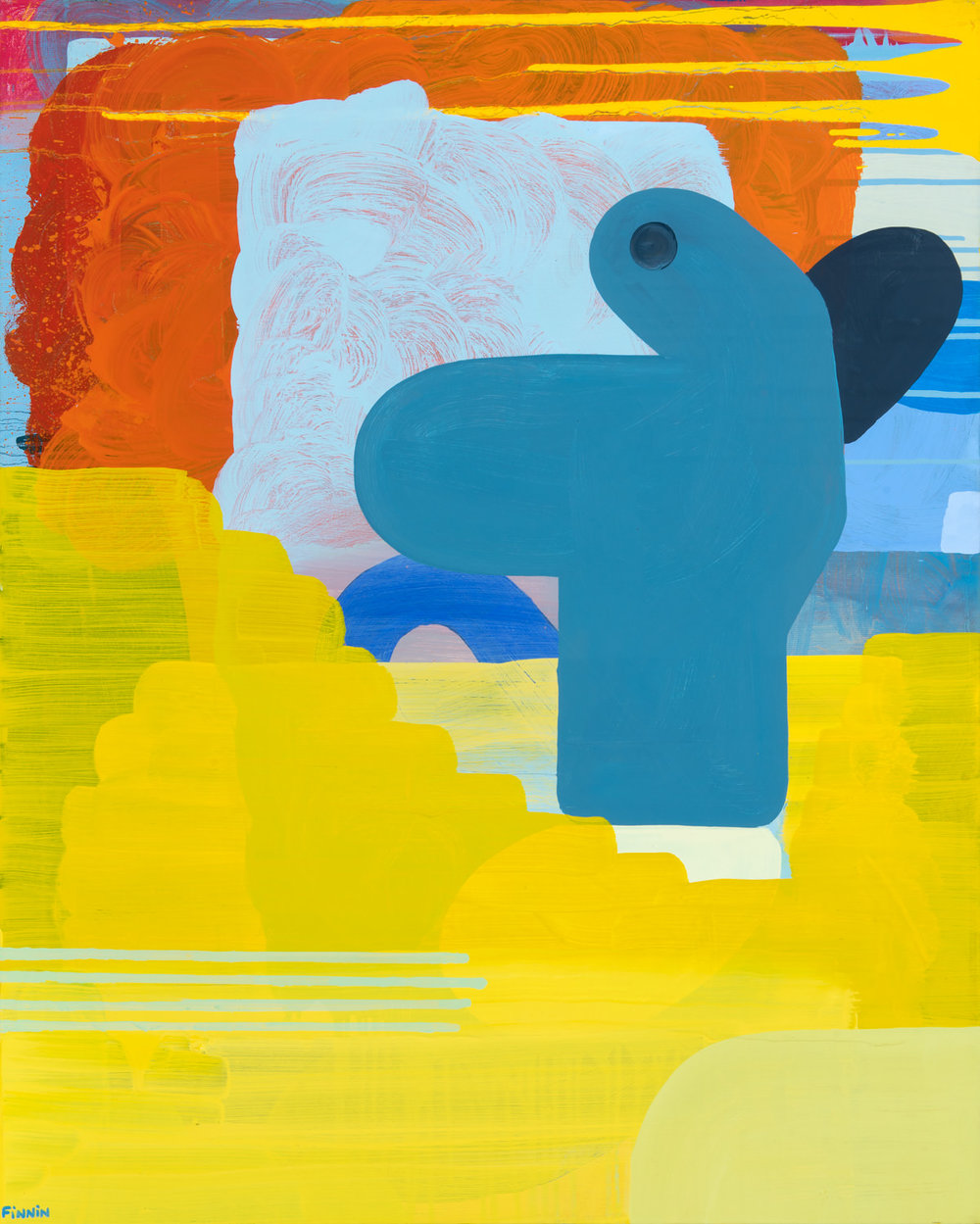 As Soon As I Walk Away I oil on canvas painting I Martin Finnin Abstract Art London