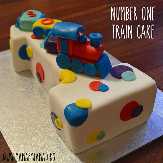Number One Train Cake