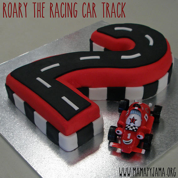 Number Two Race Track Cake