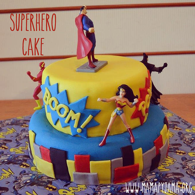 Wonder Woman Superhero Birthday Cake