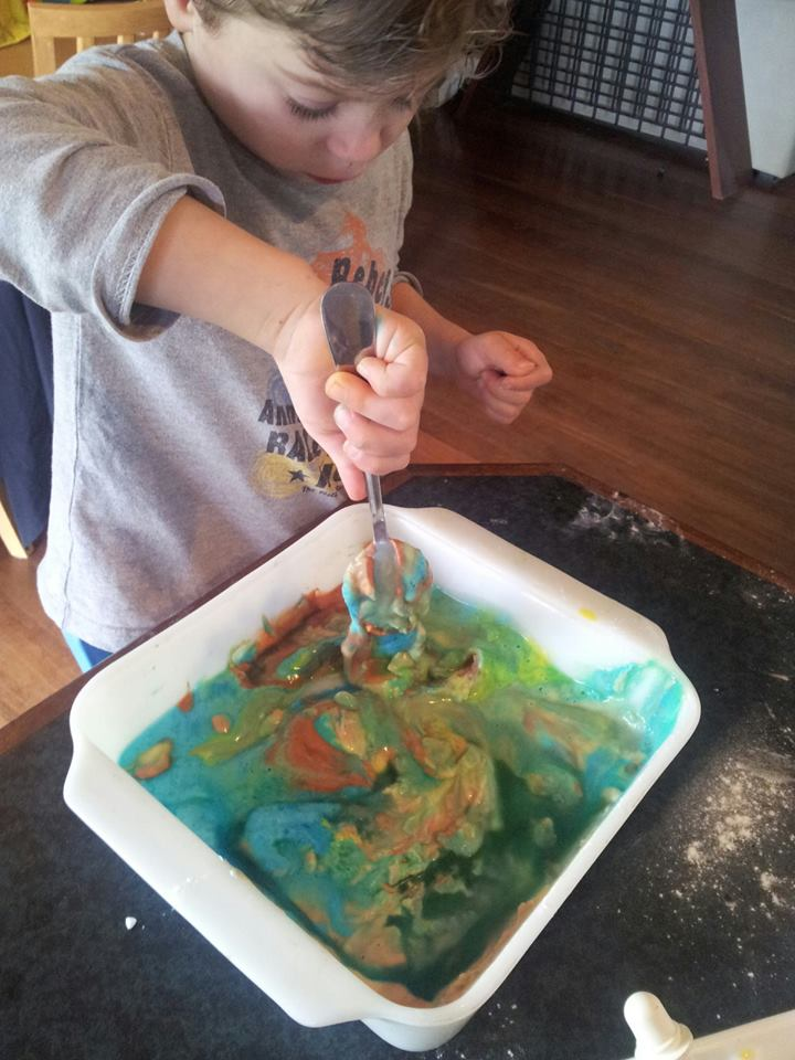 At this point we decided that slime would be a fantastic idea!!
