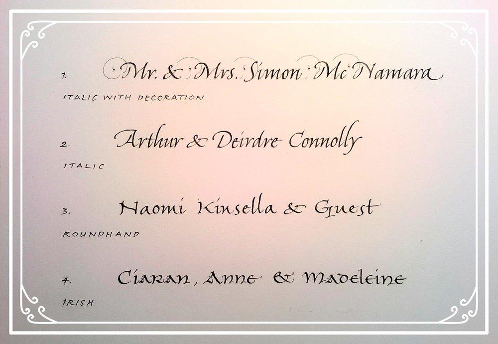 Invitation lettering styles