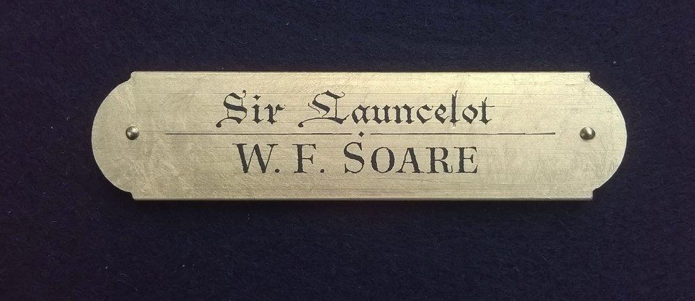 """W.F. Soare, 'Sir Launcelot', 1"""" x 4"""""""