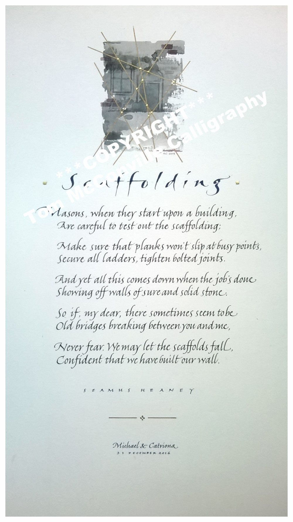 'Scaffolding' by Seamus Heaney