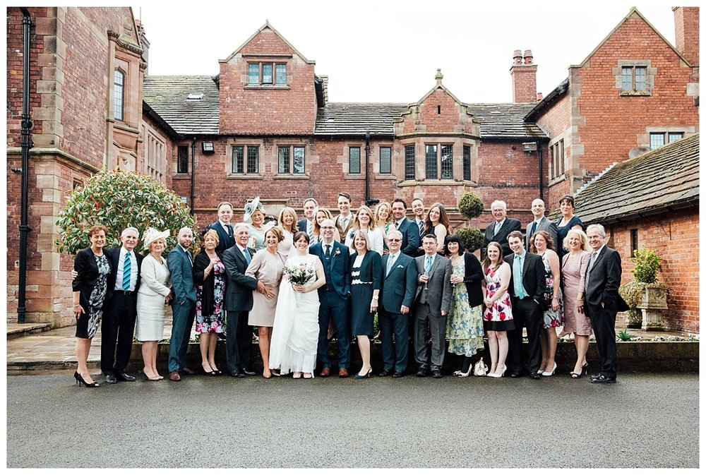 Intimate Wedding at Colshaw Hall Cheshire, Clare Robinson Photography