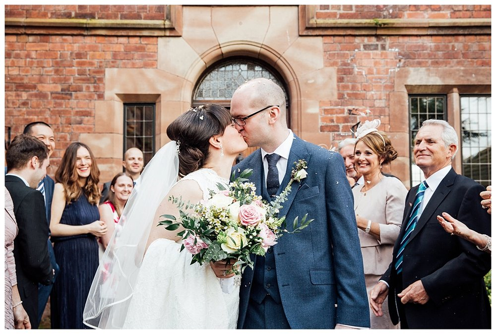 Confetti Shot outside of Colshaw Hall Cheshire, Clare Robinson Photography