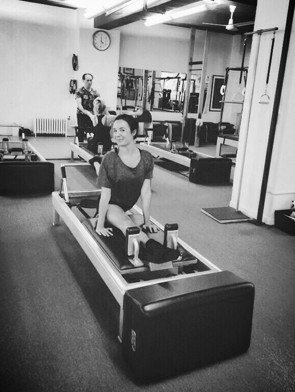 Berengere in training in True Pilates New York