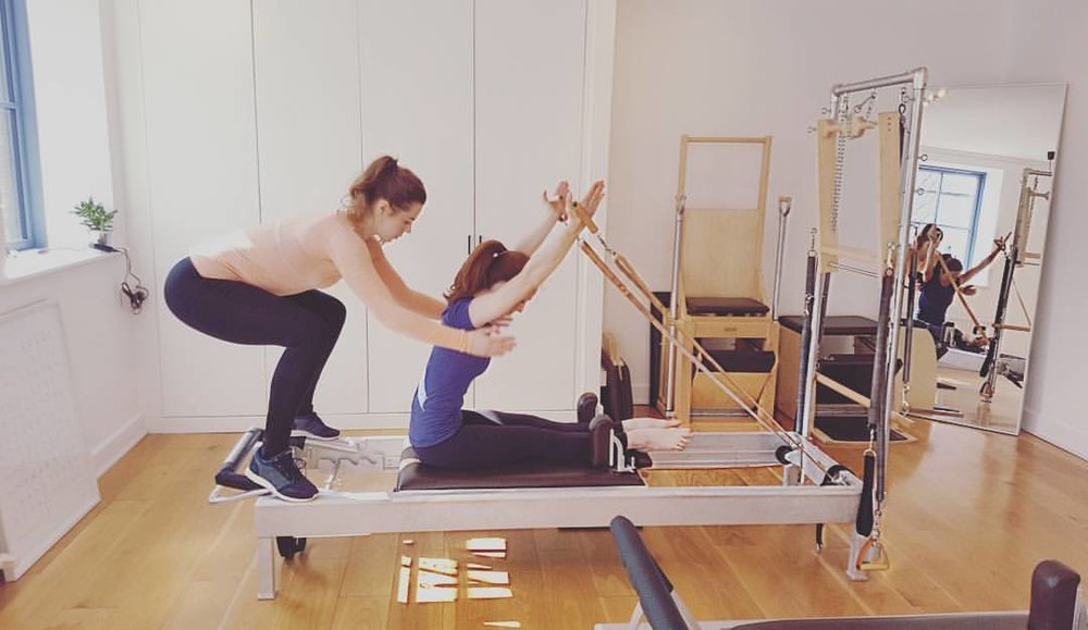 Private Session, Rowing exercise, The Pilates Studio Dublin