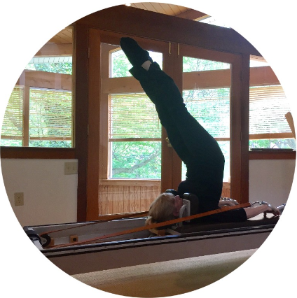 Overhead   - An Advanced exercise performed on Reformer