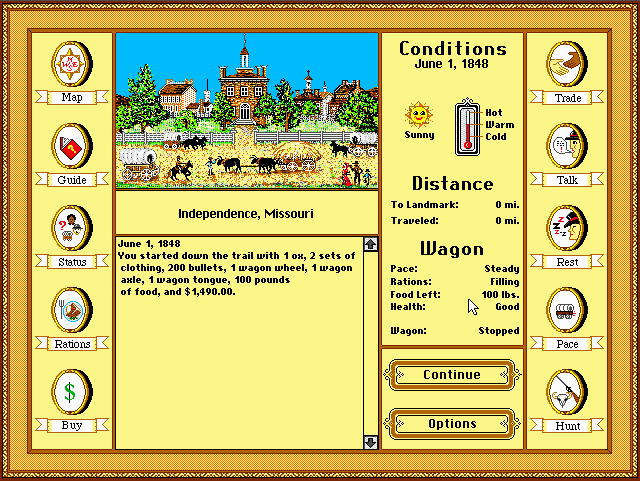 Oregon Trail Computer Game