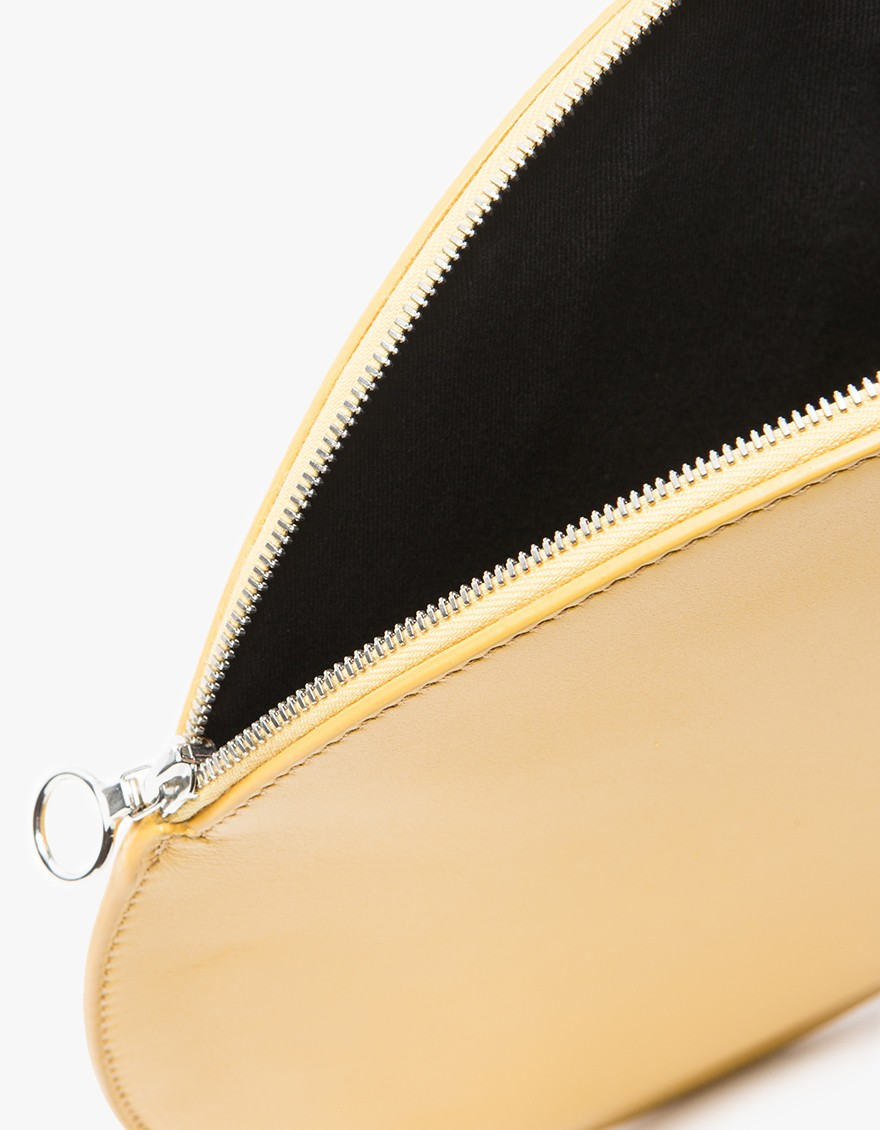 say hi to_ Kara Gold Circle Clutch
