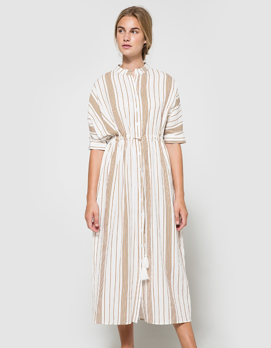 say hi to_ Farrow Striped Tunic Dress