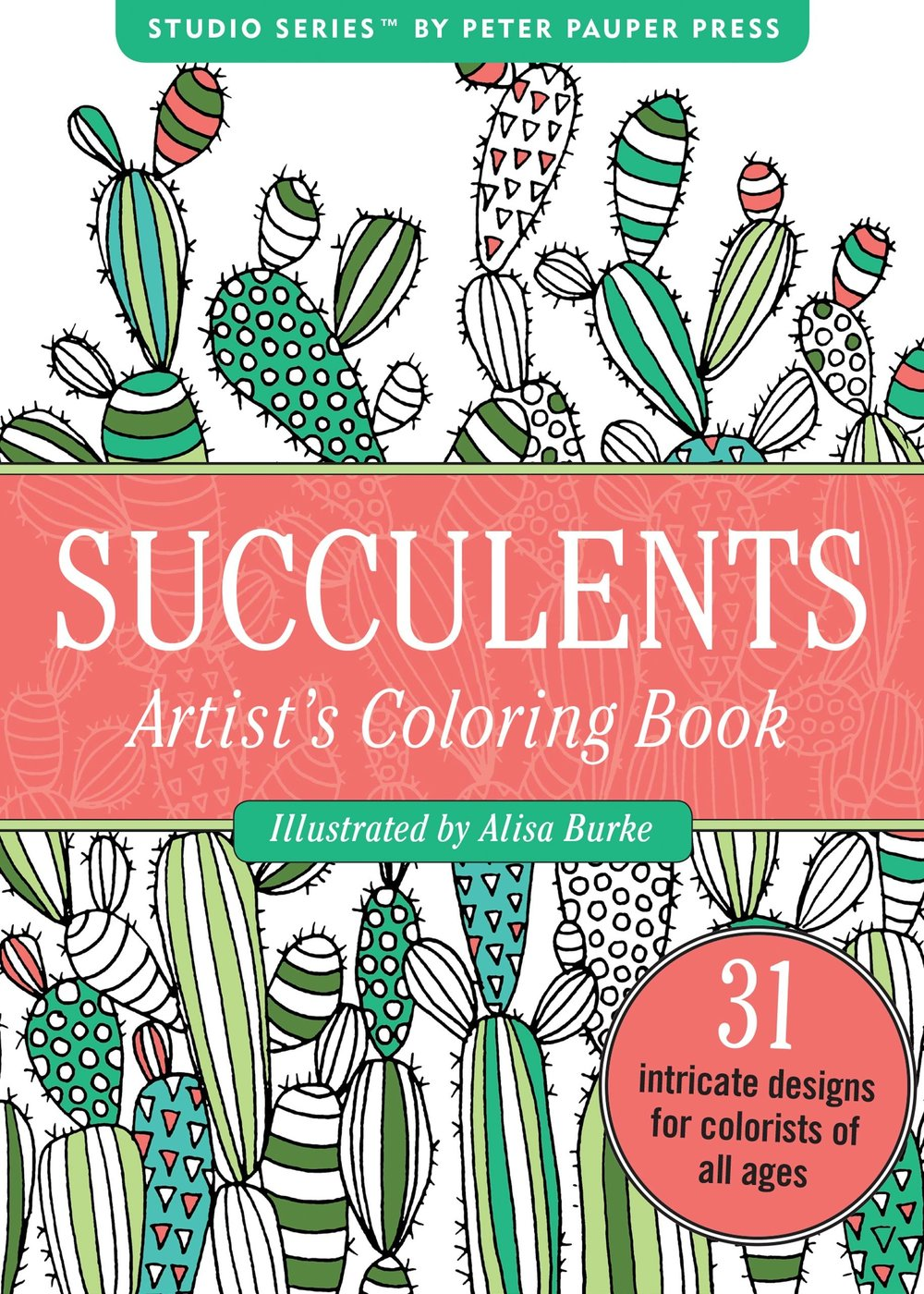 say hi to_ Succulents Coloring Book