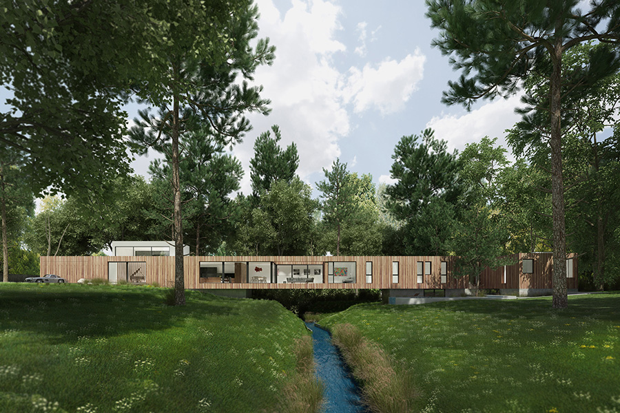 Bridge House rendering courtesy of Dan Brunn Architecture.