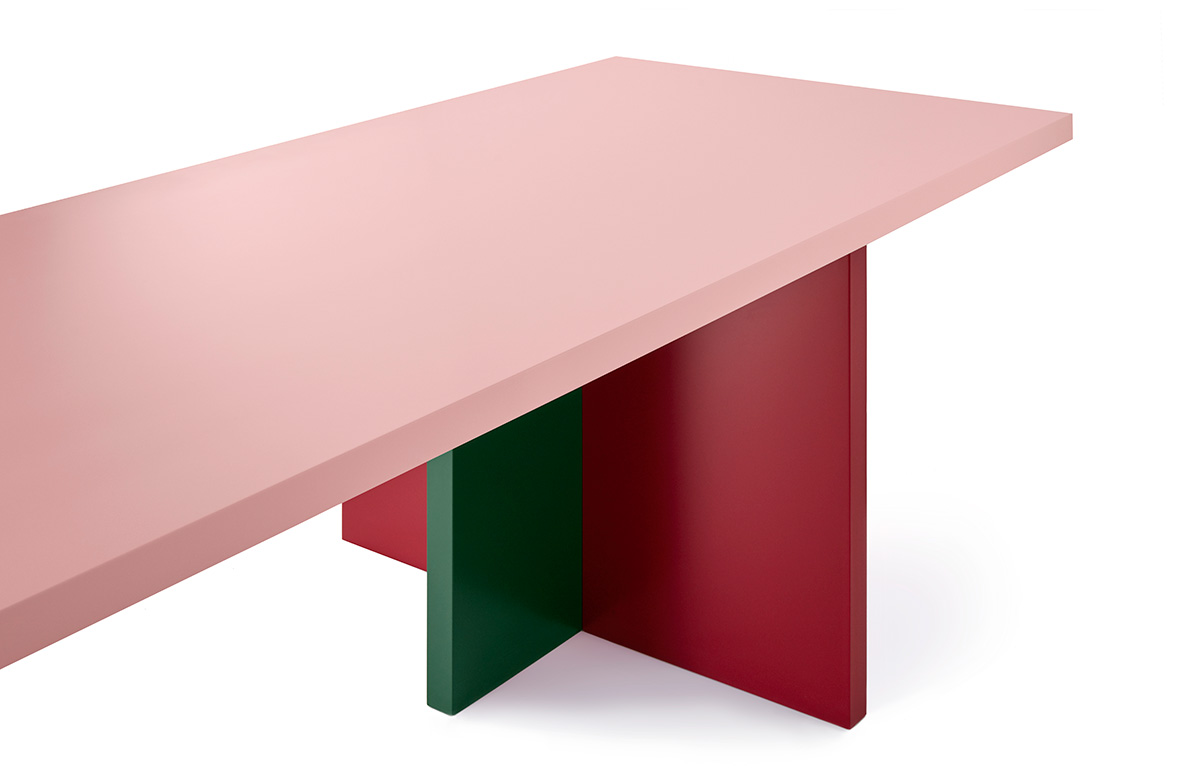 BANNACH: Architectural Tables Channeling Abstract Minimal Forms And Memphis  Color Palettes