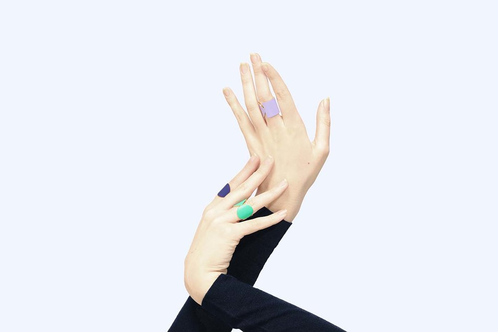 say hi to_ Amelie Riech from Uncommon Matters and the rings from the On Balance collection