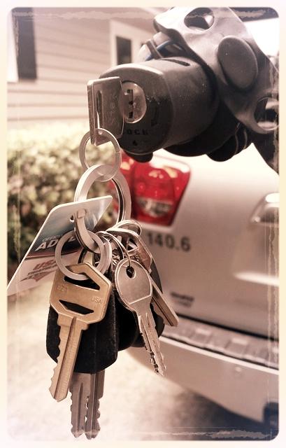 All My Keys Stuck in My Bike Rack Overnight