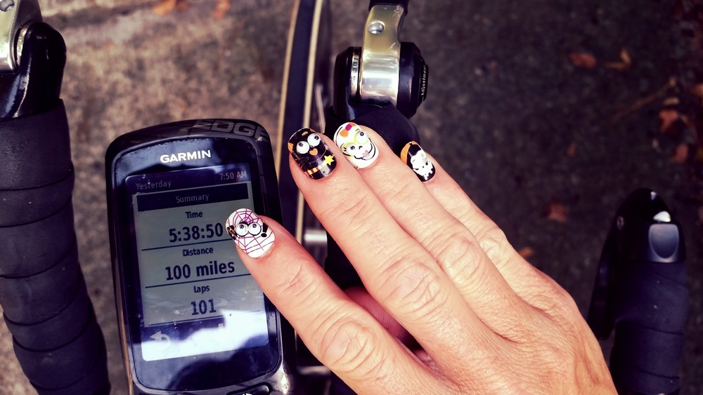 It always feels like, somebody's watchin' me. StickOn nails for the long ride. I named them: Boo, Bo, Bae and Baby. It's a long time on the bike, People.