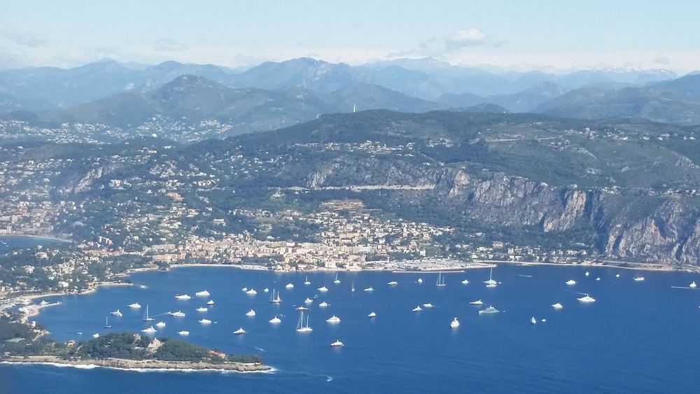 View from the plane. This is north of Nice.